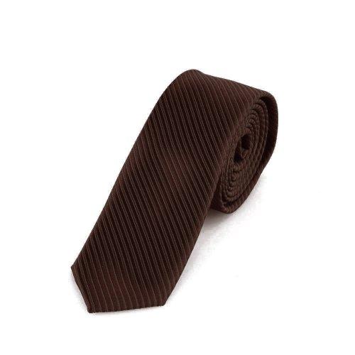 Dondon cravatta uomo marroni 5 cm di larghezza
