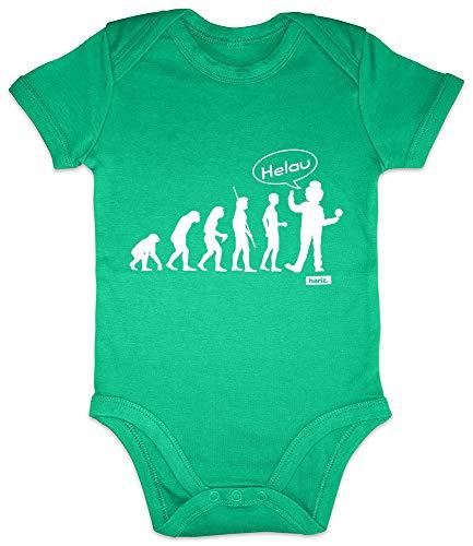 HARIZ Baby Body Kurzarm Karneval Evolution 2 Karneval Kostüm Plus Geschenkkarte Frosch Quietsch Grün 3-6 Monate