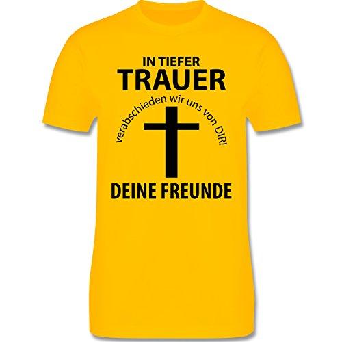 JGA Junggesellenabschied - In tiefer Trauer - Herren Premium T-Shirt Gelb
