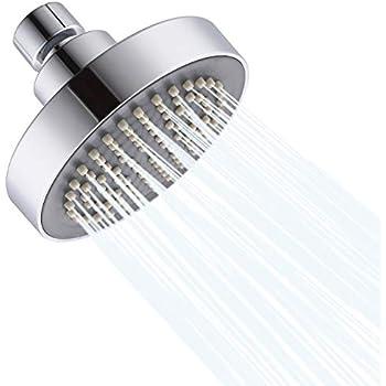 chrom 2,5 GPM Duschkopf kraftvoller hoher Durchfluss Duschkopf f/ür Bad Spa Dusche Luftblasen Druck Duschkopf ASEOK Duschkopf Hochdruck 7,6 cm wassersparende Kopfbrause