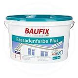 Baufix Fassadenfarbe Plus 10 Liter Weiß Seidenmatt 70 m²