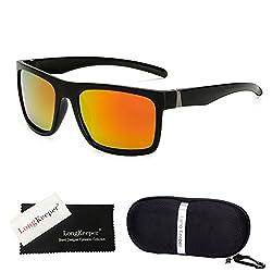 Shopystore Red Long Keeper Square Sunglasses Women Men Golf Travel Fishing Hiking Camping Biking S