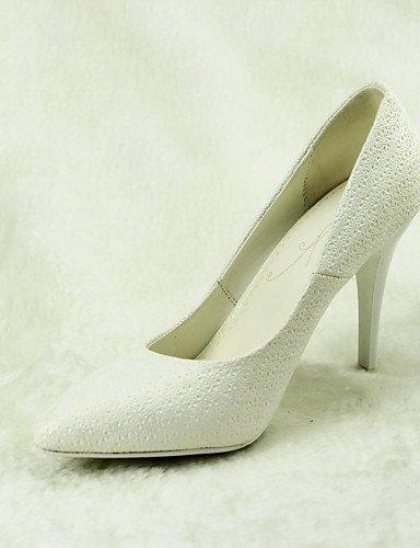 ShangYi Schuh Damen - Hochzeitsschuhe - Absätze / Spitzschuh - High Heels - Hochzeit / Kleid - Weiß 4in
