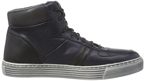 Camel Active Bowl 70 Damen Hohe Sneakers Blau (denim / Nero / Grigio)