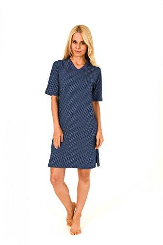 Damen Nachthemd Bigshirt kurzarm mit wunderschönen Minimalprint - 171 213 90 839 Marine