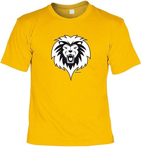 Spaß/Fun-Shirt mit witzigem Bierspruch: Löwe - lustiges Geschenk Gelb