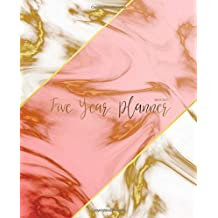 Five Year Planner 2019-2023: Monthly Schedule Organizer - Agenda Planner For The Next Five Years, 60 Months Calendar January 2019 - December 2023 | Gold Marble