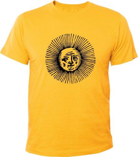 Mister Merchandise Cooles Fun T-Shirt Burning Sun Gelb