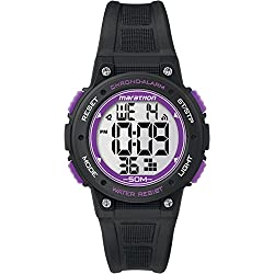 Timex Marathon Unisex TW5K84700 Quartz Watch with LCD Dial Digital Display and Black Resin Strap