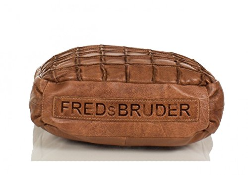 FREDsBRUDER Waffeltüte Borsa a tracolla pelle 32 cm Cognac (Braun)