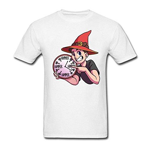 xcarmen Hammer Time Uhr T-Shirts Herren Baumwolle Gr. L, weiß