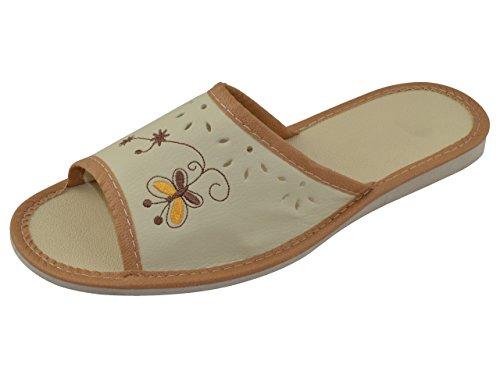 Vera Pelle Elegante da donna pantofole, Infradito TP-W-1