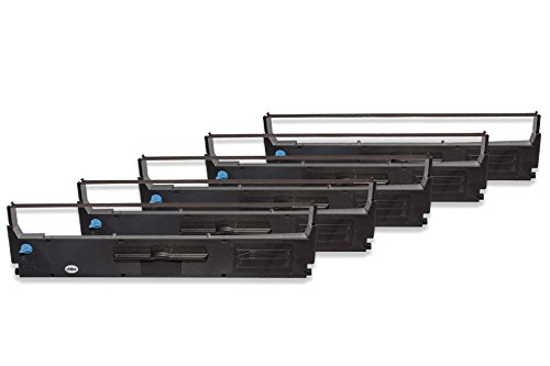 5x Cinta de tinta de nailon para su impresora Epson LX 300...