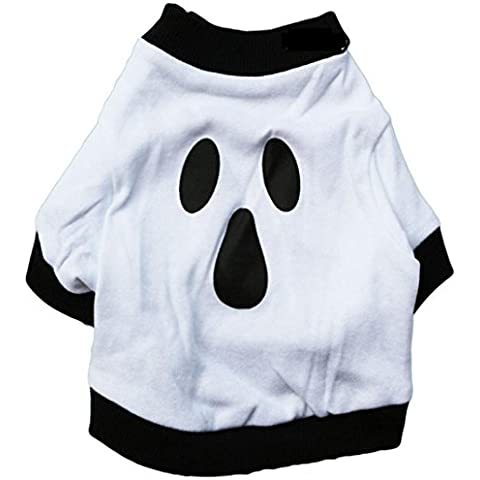 Camicia Piccolo Cane, Dog Shirt, Ouneed® Shirt Pet Ghost Dog Natale vestiti di cotone bianco Halloween (S)