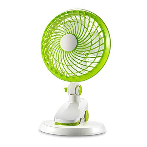 SXXDERTY Ventilador de Mesa USB 3 en 1 Ventilador de Clip Portátil Silencioso 180 Grados Ventiladores de Enfriamiento Ajustable para Cochecito de Bebé en el Hogar