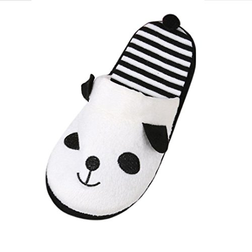 Home Chaussons,Fulltime® Lovely Cartoon Panda Home étage Soft Stripe pantoufles