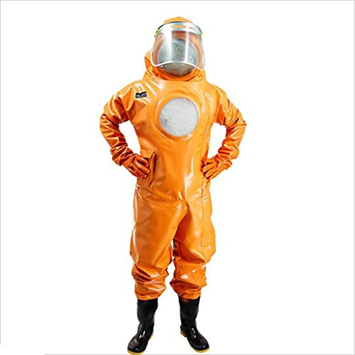 Fa IT Indumenti protettivi chimici con Cappuccio, ventilati con Ventola addensata scollegata a Caldo, Abbigliamento per Bebè - Protezione dalla Testa ai Piedi (Size : 40)