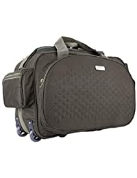50201a4e1 SIBIA Unisex Polyester 40 litres Green Waterproof Travel Duffle Bag with  Roller Wheels