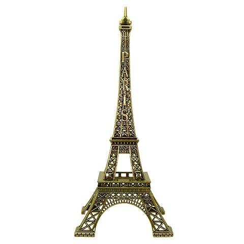 Souvenirs de France - Tour Eiffel Miniature Métal - Couleur : Bronze - Taille : 18 cm