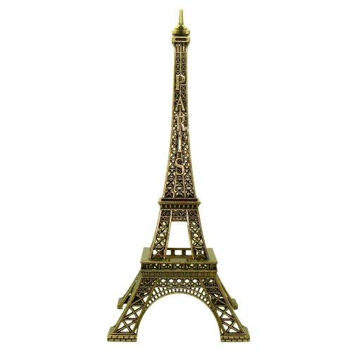 Souvenirs de France - Tour Eiffel Miniature Métal - Couleur : Bronze - Taille : 13 cm