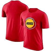 SHPP Camiseta Unisex Houston Rockets Top Hombres Manga Corta Baloncesto Deportes Manga Corta Camiseta Suelta-Fan Jersey Debe Tener 99% Algodón Hombres-F-XXL