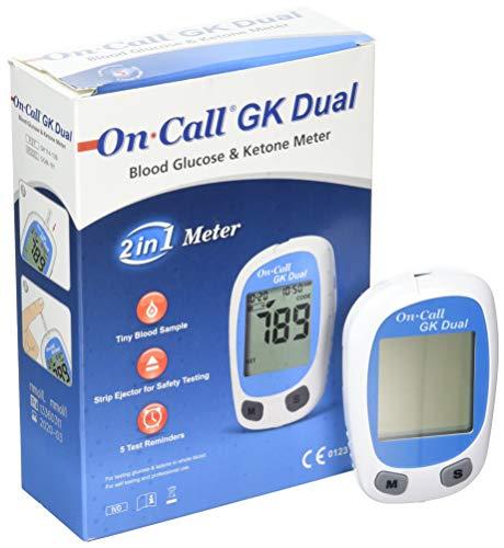 On Call GK Dual Blutzucker und Ketone Messgerät (mg/dL).