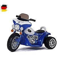 62083ebf4b Kinder Elektro Motorrad Polizeimotorrad Chopper 'Police-Edition' mit  Beleuchtung, Soundeffekt, 6V