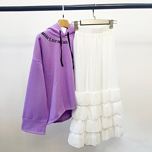Xing Lin Giacca In Pile Felpa Viola Felpa Con Cappuccio Mantello Bianco Fantasy purple hooded sweater spot