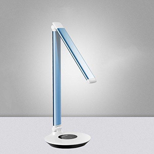 & Tischlampe Tischleuchten, Led Schreibtischlampe Augenpflege, Faltbar/Versprechen Dimmen Nachttischlampe (Color : Blue)