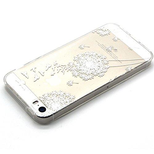 Qissy® Schutzhülle für iPhone 5/ iPhone 5s Hülle Schlank Transparent Weicher Gel TPU Silikon Handy Hülle Bunt Telefon Kasten Abdeckung Case (iPhone 5/ iPhone 5s, style 16) Style 14