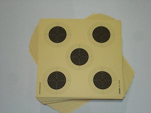 100 Original Umarex 5 er Spiegel Luftgewehr / Softair Zielscheiben 14x14 cm