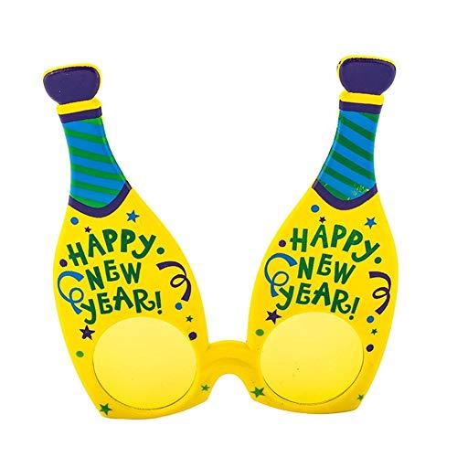 Neues Jahr Kostüm Frohes - Unbekannt Lustige Frohes Neues Jahr Flasche Wein Kostüm Brille Party Brille Geschenk Festliche Partei Liefert Dekoration