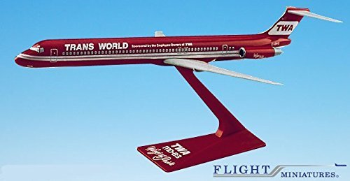 twa-wings-of-pride-md-80-airplane-miniature-model-plastic-snap-fit-1200-part-amd-08000h-005-by-genes