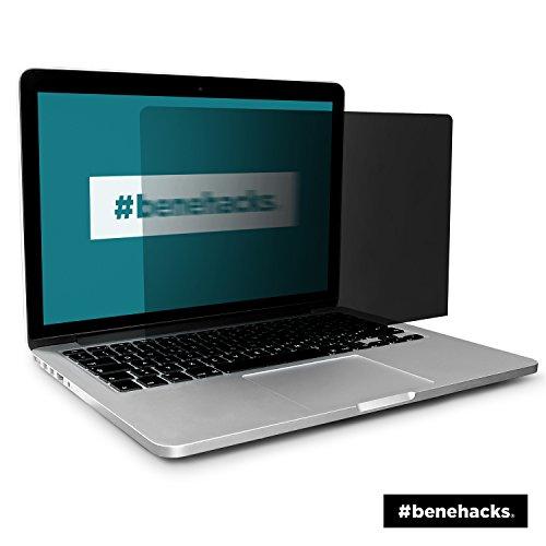 #benehacks® Blickschutzfolie - Apple Macbook Air - privacy screen monitor - für 13' Display (Bildschirmgröße von 287 x 179 mm) - Farbe:schwarz