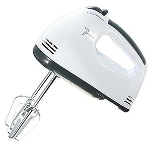 Batteur Oeuf Fouet Electrique Whisker Cuisine Ustensile Mixeur 7 Vitesses Blanc