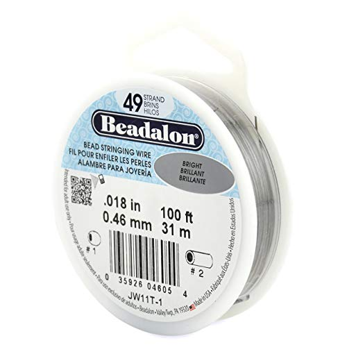 Beadalon 0,46 mm de diamètre 31 m de Fil de Bobine de Fil 49 brins, Lumineux