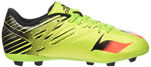 adidas Messi Multi-Surfaces, Chaussures de Football Amricain Mixte Enfant Vert (Semi Solar Slime/Solar Red/Core Black)