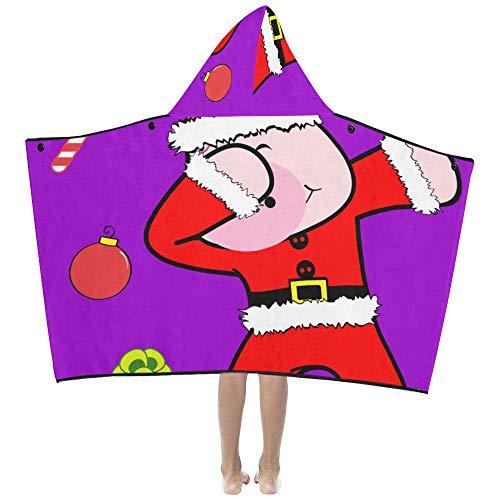 Lustige Schweinkarikatur tupfen Tanz weiche warme Baumwolle gemischt Kinder verkleiden sich mit Kapuze tragbare Decke Badetücher werfen Wrap für Kleinkinder Kind Mädchen Jungen Größe Reise - Benutzerdefinierte Kinder Tanz Kostüm