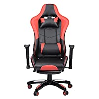 Homgrace Gaming Chair,Office Desk Chair,Computer Chairs,Racing Chairs,Executive Swivel Chair Recliner with Tilt High Back,Extendable Footrest,Adjustable Seat Height & Armrests