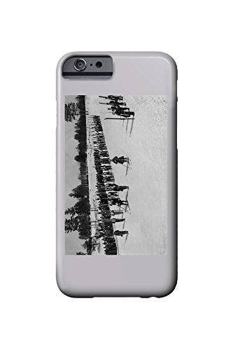 land-o-lakes-wisconsin-skiers-on-parade-near-kings-gateway-hotel-iphone-6-cell-phone-case-slim-barel