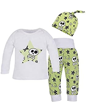 Covermason Kinder Baby Jungen Mädchen Langarm T-Shirt Tops + Hosen + Hut Kappe Bekleidungssets