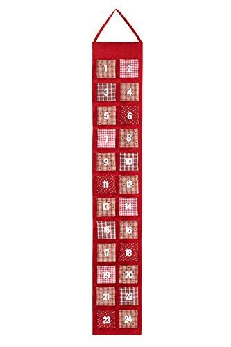 HEITMANN DECO 91561Calendario dell' Avvento in Feltro da riempire, Rosso, plastica, 39x 23x 3,5cm