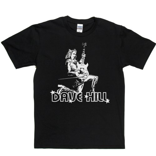 Dave Hill English musician Glam Rock Lead Guitarist T-shirt Schwarz