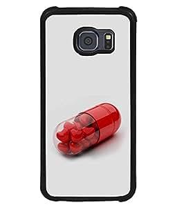 PrintVisa Designer Back Case Cover for Samsung Galaxy S6 Edge+ :: Samsung Galaxy S6 Edge Plus :: Samsung Galaxy S6 Edge+ G928G :: Samsung Galaxy S6 Edge+ G928F G928T G928A G928I (Red Hearts Inside The Capsule Design)