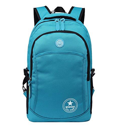 Super Modern Modischer Rucksack, Unisex, Nylon, wasserdicht, zum Wandern/ Sport, Laptoptasche, Geschenkidee zu Weihnachten seeblau