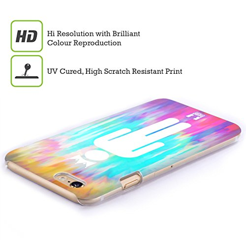 Head Case Designs Arcobaleno Tie Dye Cover Retro Rigida per Apple iPhone 7 / 8 King Of What