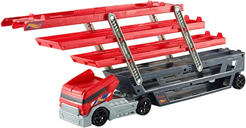 Hot Wheels Megacamión, Camión Transportador de Coches de Juguete (Mattel CKC09)