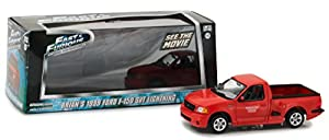 Greenlight Collectibles - Ford F150 SVT - Fast and Furious 1 - 1999 - Escala 1/43, 86235, Rojo