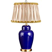 ZYCkeji Zart Minimalistische kreative Blaue Keramik Schlafzimmer Nachttischlampe High-End-Villa Wohnzimmer dekorative... preisvergleich bei billige-tabletten.eu