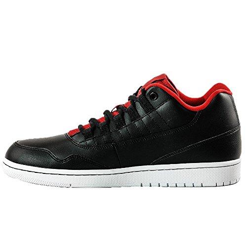 Nike Jordan Executive Low, espadrilles de basket-ball homme Noir - Negro (Black / Gym Red-Gym Red-White)
